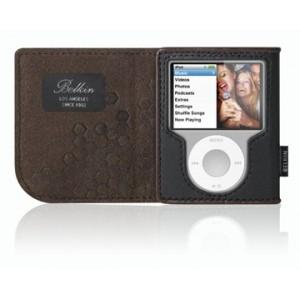 Lederhülle Belkin für ipod nano - Schwarz/Schokolade